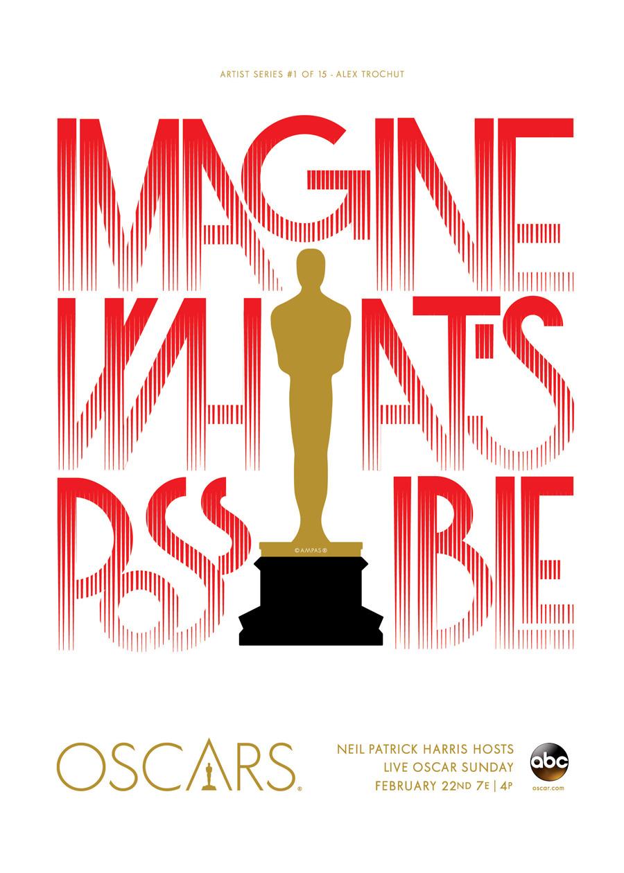 cartel Oscars - Alex Trochut - Premio Gràffica 2013