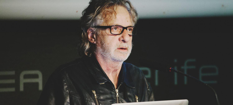 Javier Mariscal en la entrega de los Premios Gràffica 2016