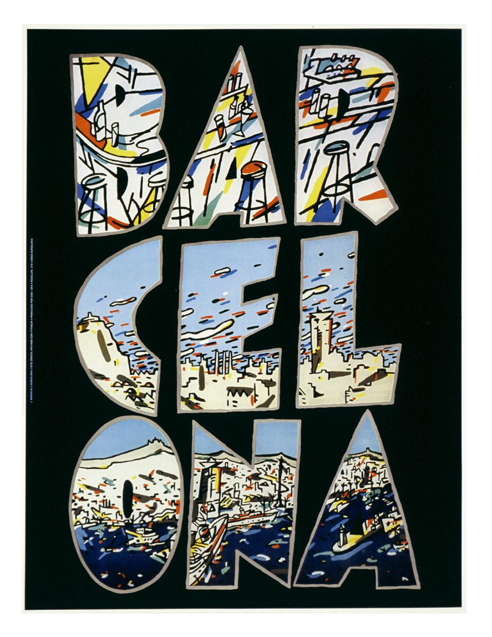 Javier Mariscal – cartel Barcelona