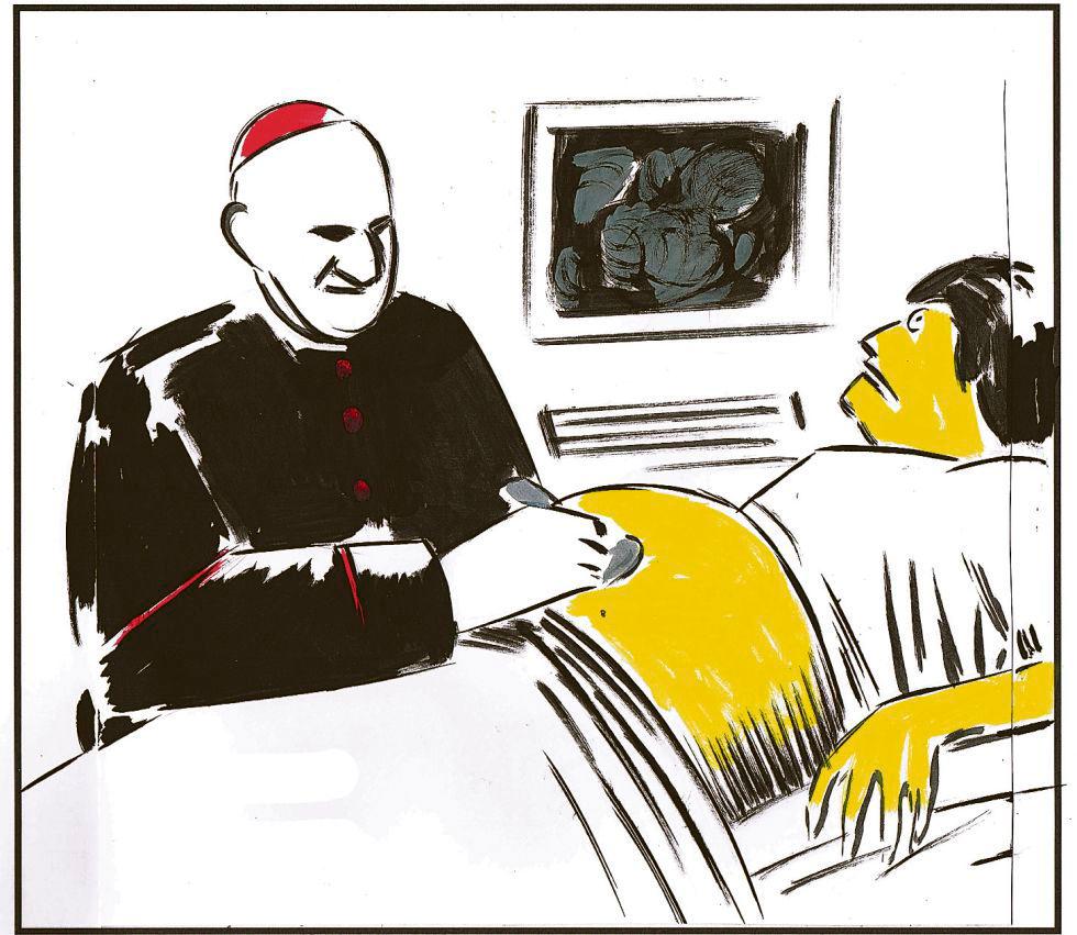 El Roto, iglesia y enfermedad