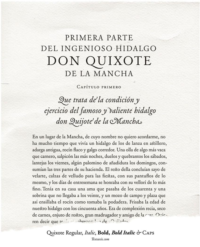 Quixote - Íñigo Jerez, diseñador y tipógrafo Premio Gràffica 2014