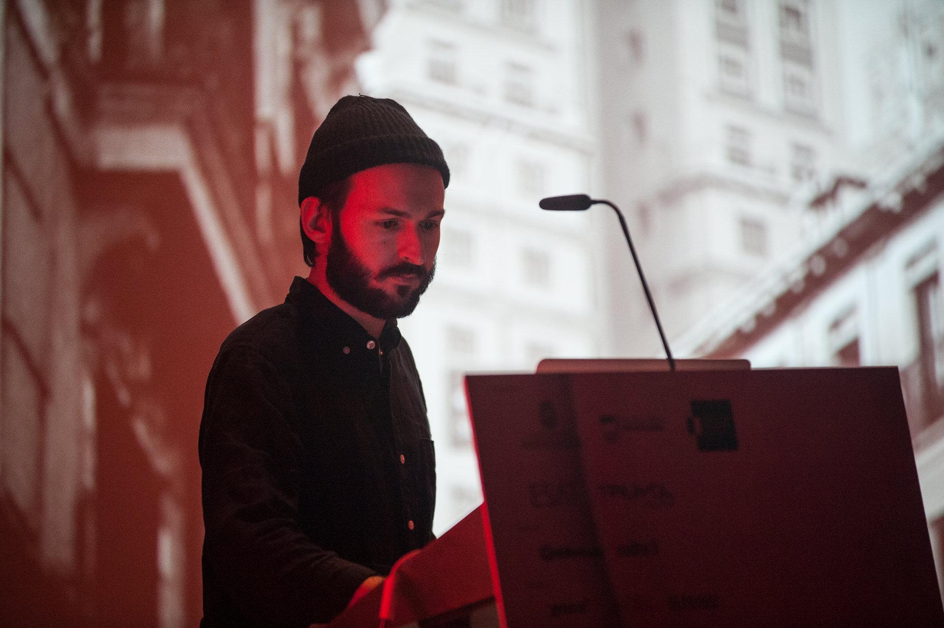 Diego Etxeberria durante la entrega de los Premios Gràffica