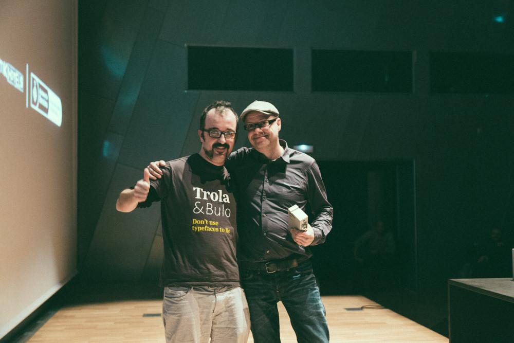 Andreu Balius y Jordi Embodas – Premios Gràffica 2013