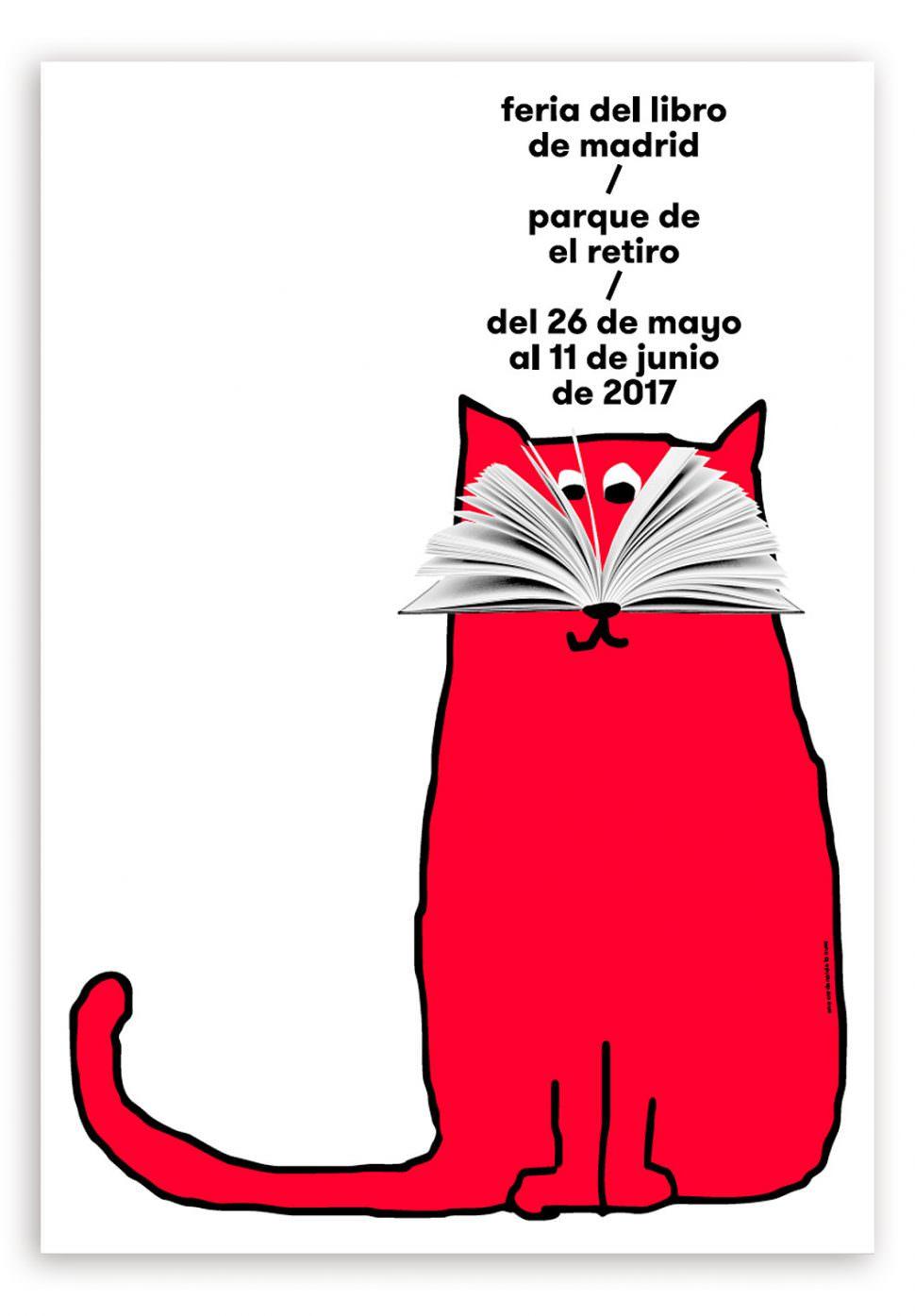 cartel de la feria del libro de Madrid 2017 diseñado por Ena Cardenal de la Nuez
