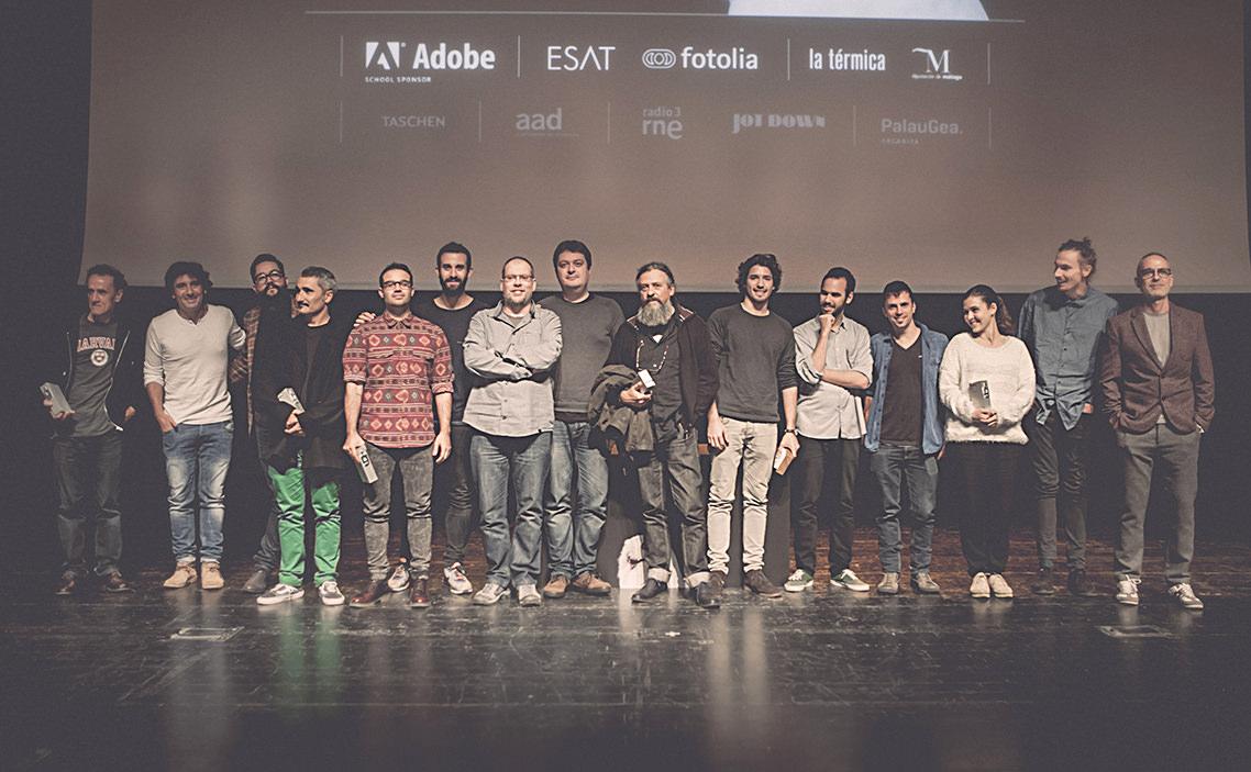 escenario con los 10 Premios Gràffica 2014
