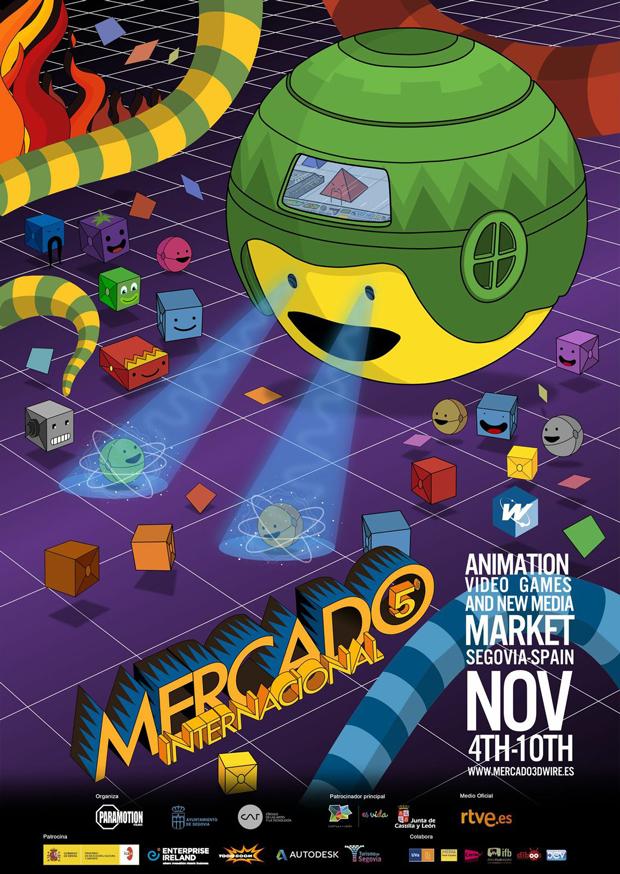 3D Wire, cartel del evento sobre animación y videojuegos
