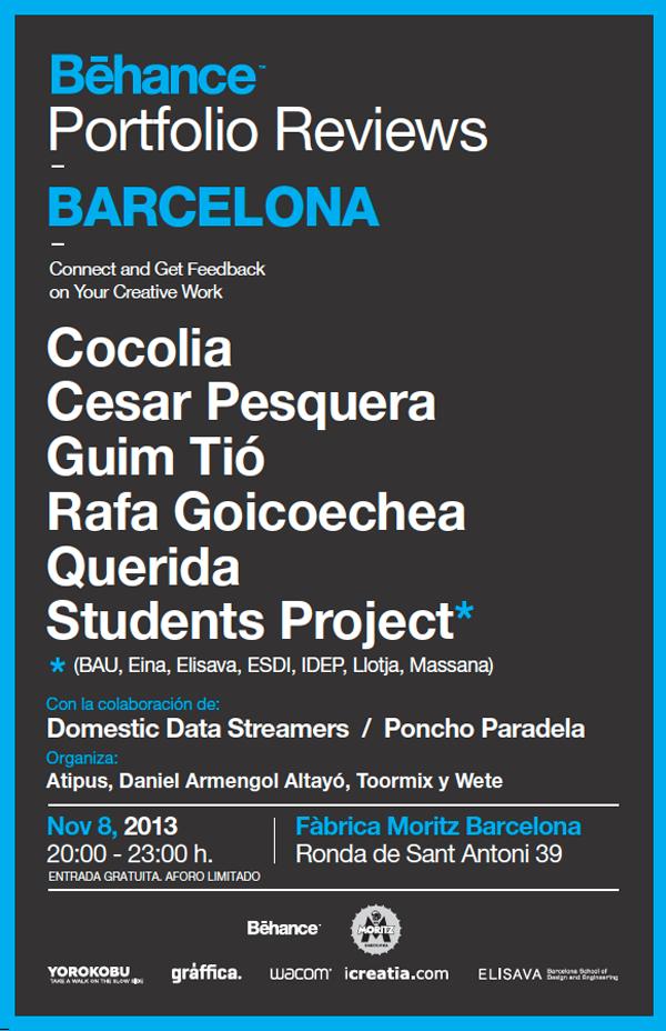 Behance Portfolio Reviews cartel Barcelona 2013