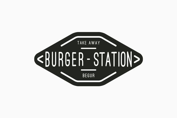 Burger Station, logo de Nueve Estudio