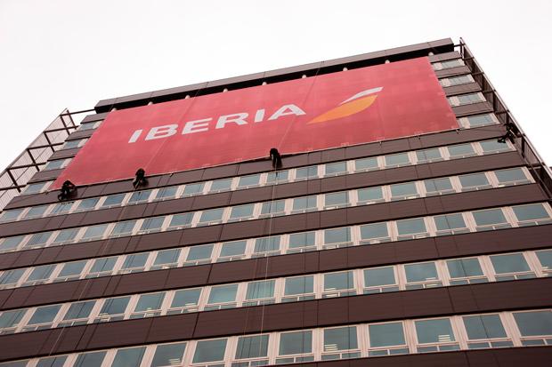 Iberia, lona con la presentación de la nueva marca