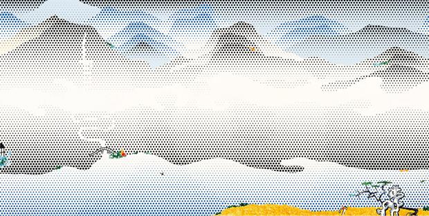Lichtenstein, Landscape (1997)