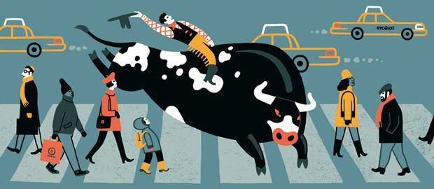 Luci Gutiérrez, ilustración NewYorker BullRiding