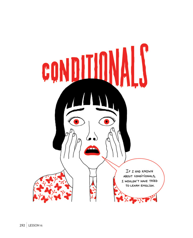 Luci Gutiérrez, English is not easy, conditionals