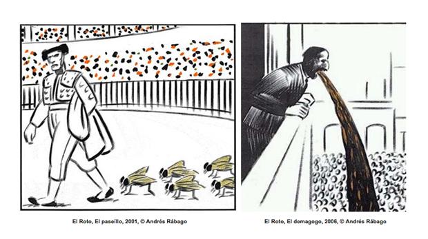 OPS / El Roto / Rábago, viñetas