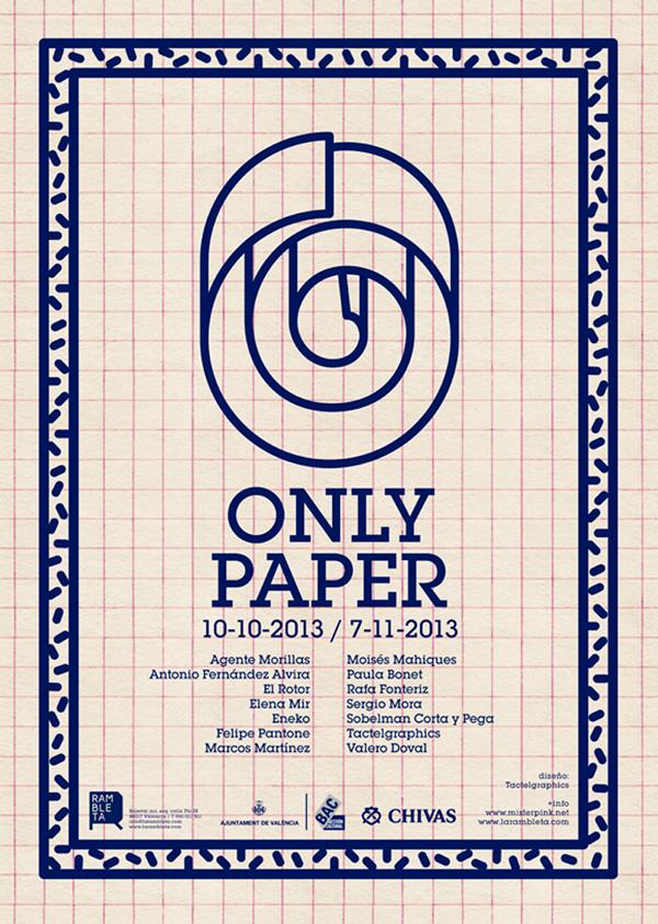 Only Paper, cartel exposición en Rambleta, Valencia