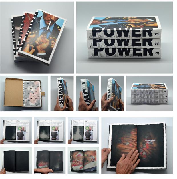 Power, portada del PFC del diseñador Guillem Casasús