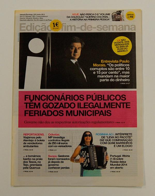 Premio ÑH 2013 para el mejor periódico para el portugués i