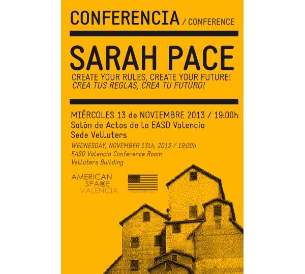 Conferencia de Sarah Pace en EASD Valencia