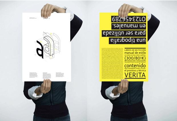 Carteles para tipografía Verita