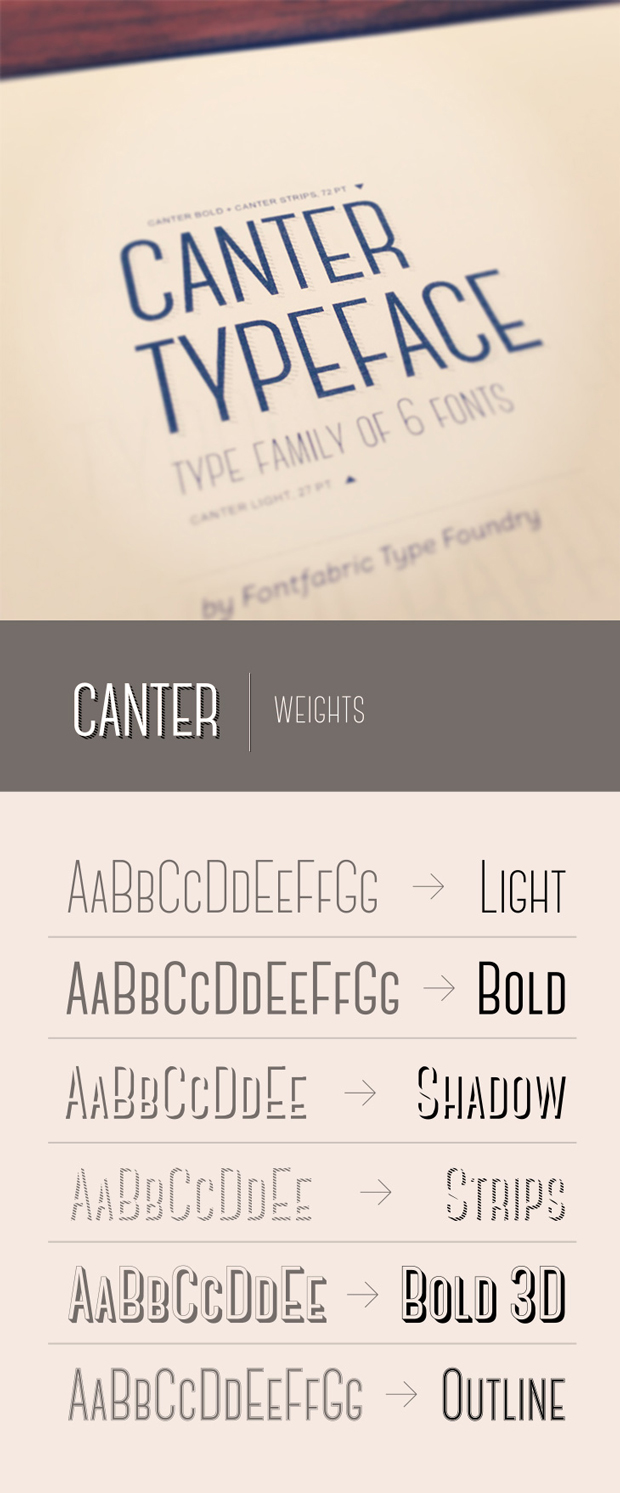 canter, fuente display gratuita Font Fabric
