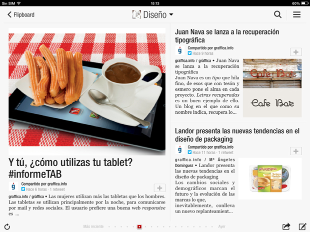 Revistas para tabletas - Flipboard