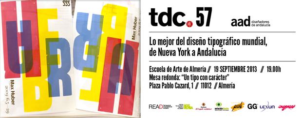La exposición Type Directors Club (tdc57) llega a Almería