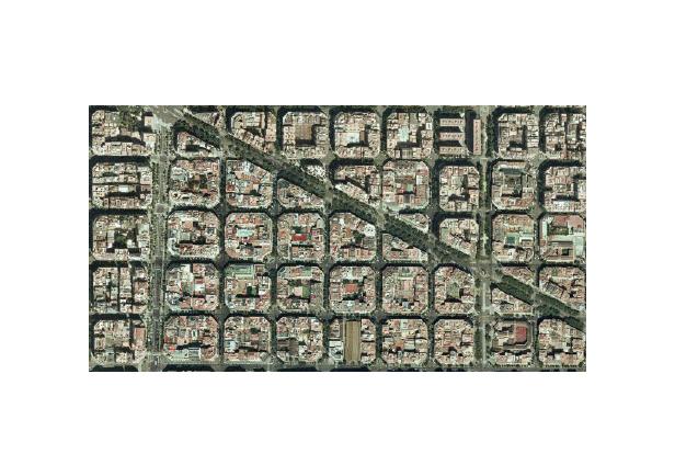 Barcelona Brompton, plano reticula ciudad