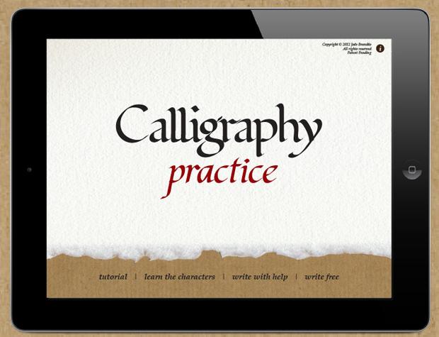 Calligraphy Practice, la app para practicar caligrafía en el iPad