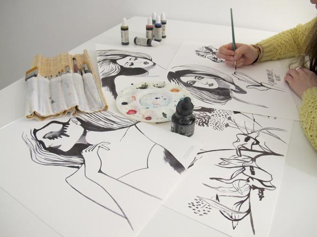 Lara Costafreda, ilustradora para moda