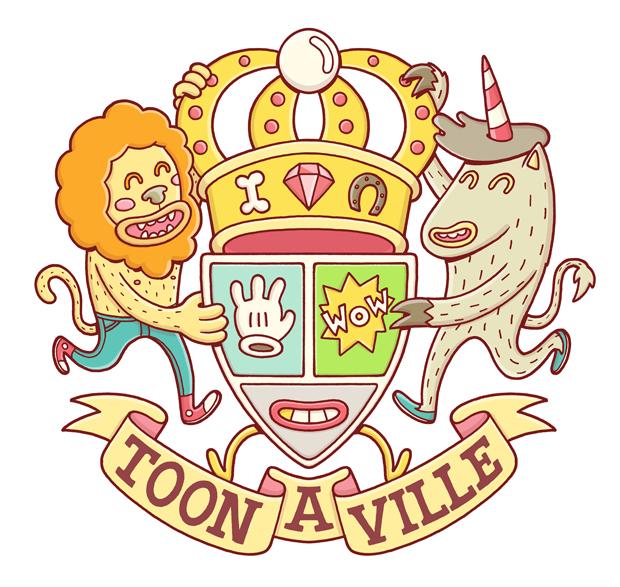 Toon a Ville, escudo-logo diseño de Brosmind