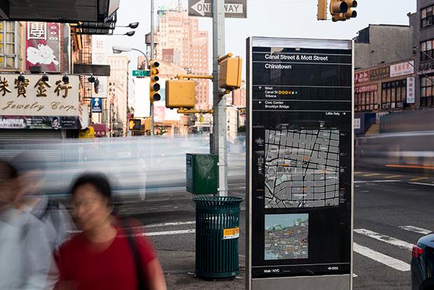 WalkNYC, MUPI mapas diseño Pentagram