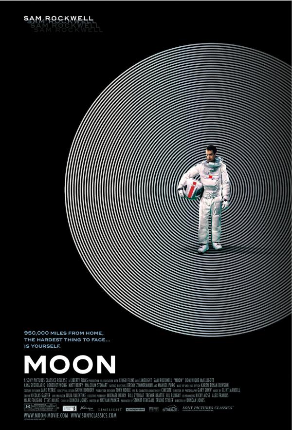cartel de cine de la película 'Moon' diseñado por Barfutura