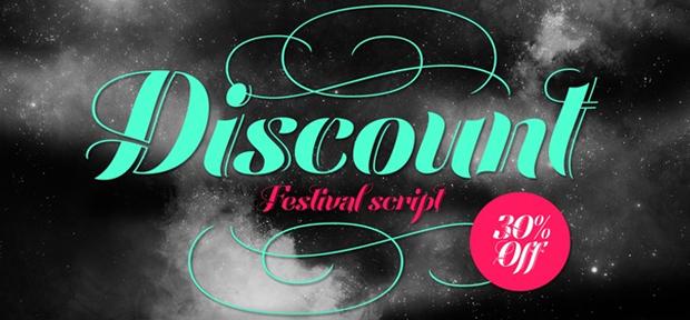 Festival Script, nueva fuente de Sudtipos