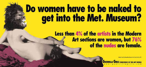 Guerrilla Girls, cartel expo, AlhóndigaBilbao