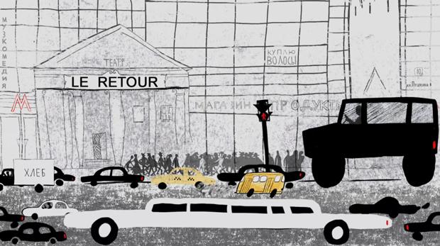Le retour, corto de animación de Natalia Chernysheva