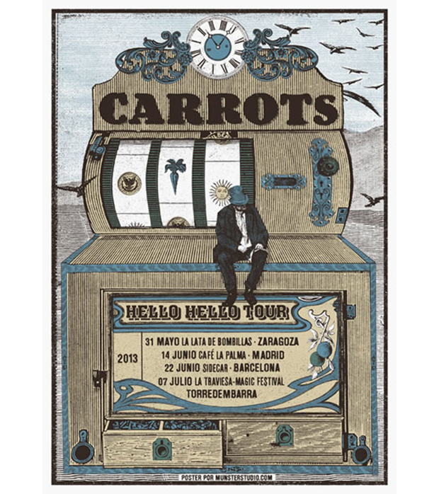Münster Studio, cartel del concierto de Carrots