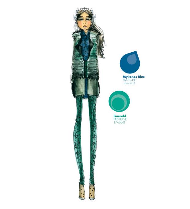 Emerald y Mykonos Blue en el Top 10 colores Pantone otoño-invierno 2013