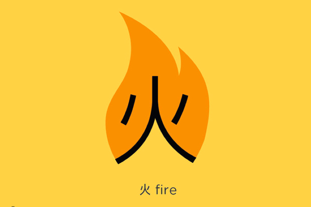 Chineasy, fire