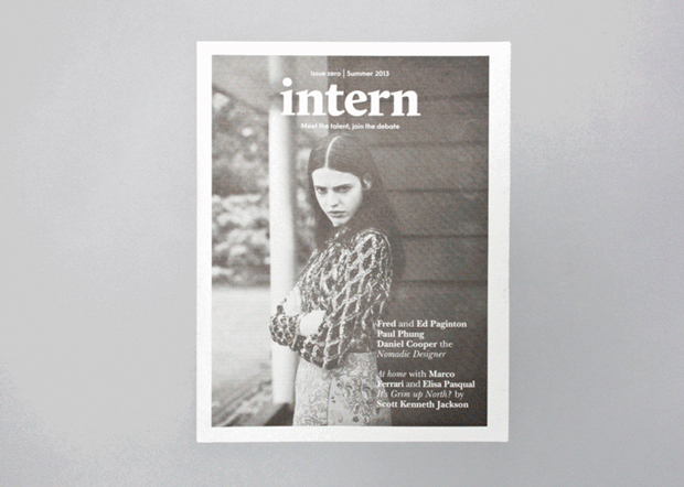 Intern, portada Issue ejemplo