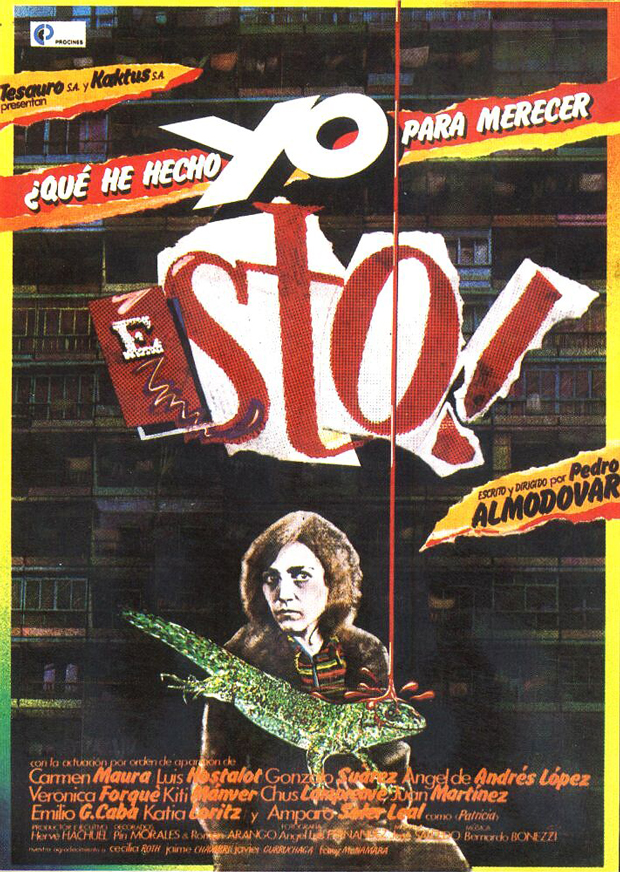 La Movida, cartel de la película ¿Qué he hecho yo para merecer esto?