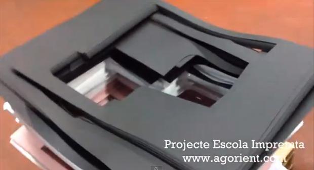 ¿Qué se podría hacer con el material sobrante de todas las imprentas?