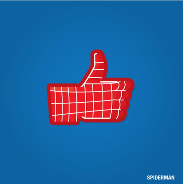 Los superhéroes del cómic customizan los 'me gusta' en Facebook