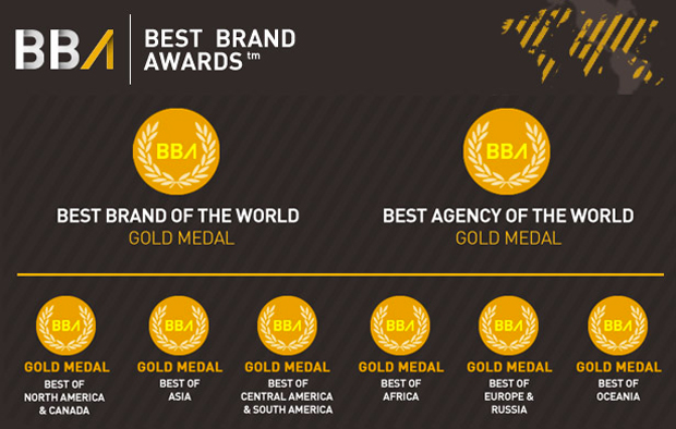 Best Brand Awards (BBA), medallas