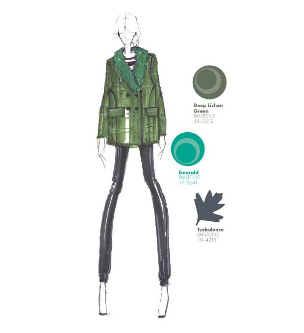 Emerald, Deeep Lichen green y Turbulence, en el Top 10 colores Pantone otoño-invierno 2013