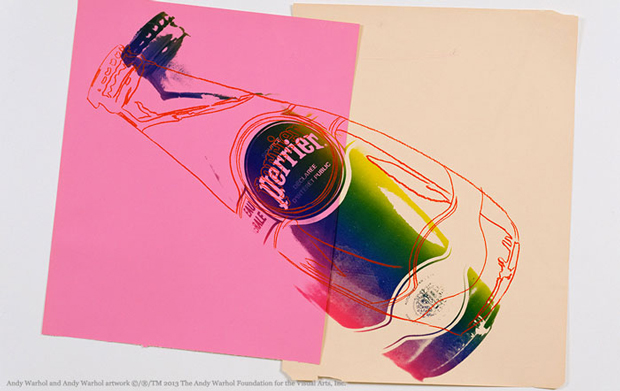 Perrier, etiquetas de Warhol 150 aniversario