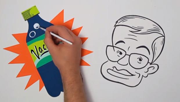 fotograma del corto de animación sobre las teorías de Stephen Hawking.