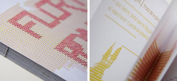 Floripondio, proyecto editorial realizado en punto de cruz