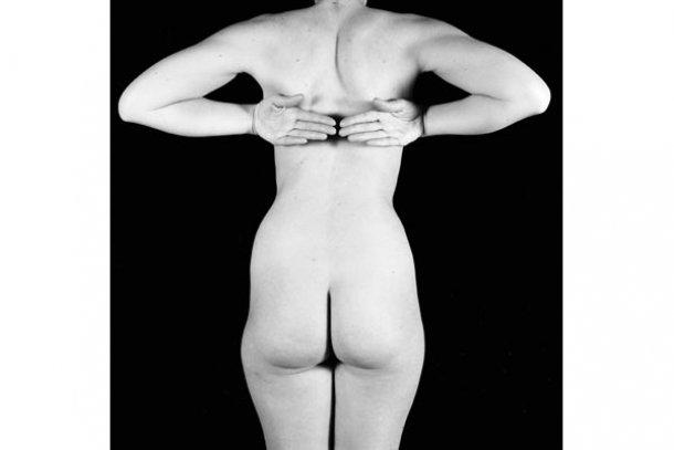 Zbigniew Dlubak, fotografía de cuerpo femenino desnudo de espaldas