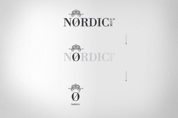 Evolución del símbolo del nuevo logo de la tónica Nordic Mist