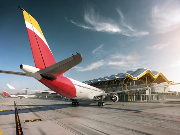 rediseño marca Iberia, nueva librea en T4