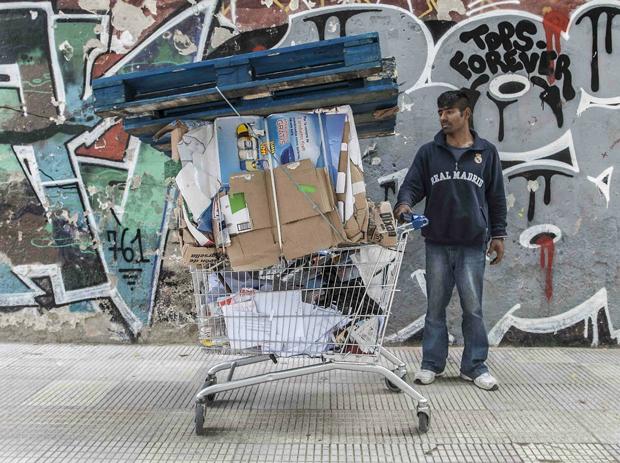 Manuel Zamora, fotografía de la serie 'Vidas recicladas'